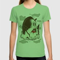 Creep Cloud Face Melt Womens Fitted Tee Grass SMALL