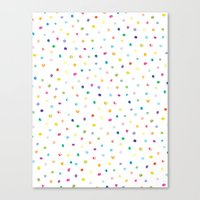 Rainbow Polka Dot Canvas Print