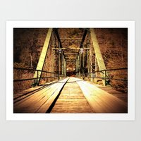 Old Shallowford Bridge Art Print