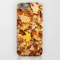 iPhone & iPod Case featuring Fall Leaves by Jasmine Cupp