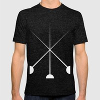The Three Musketeers Mens Fitted Tee Tri-Black SMALL