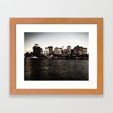 Same Spot, Different Light Framed Art Print