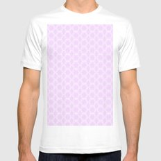 Honeycomb Doily  SMALL Mens Fitted Tee White