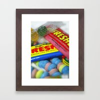 Retro Sweets. Framed Art Print