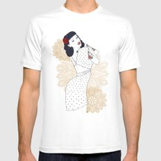 Girl  SMALL Mens Fitted Tee White