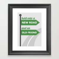 New Road - Old Friend Framed Art Print