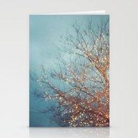 December Lights Stationery Cards