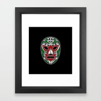 Mexican Wrestling Mask -… Framed Art Print