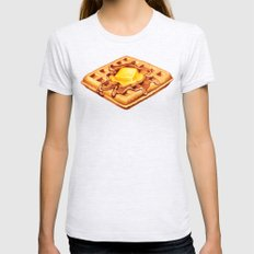Waffle Pattern Womens Fitted Tee Ash Grey SMALL