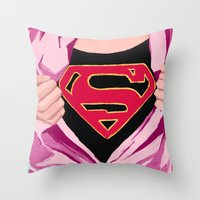 Girl, You're Super Throw Pillow