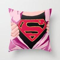 Girl, you're super Throw Pillow