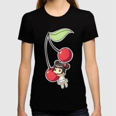 Cherry Womens Fitted Tee Black SMALL