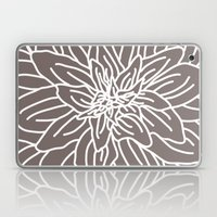 Abstract Flower Brown Laptop & iPad Skin