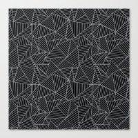 Ab 2 R Black and Grey Canvas Print