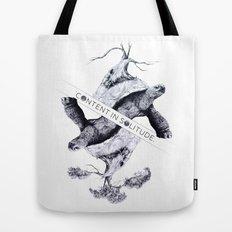 Content in Solitude Tote Bag