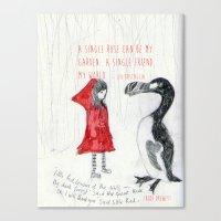 A Single Friend Canvas Print