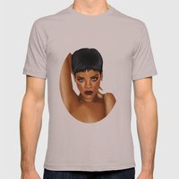 Rihanna Unapologetic Mens Fitted Tee Cinder SMALL