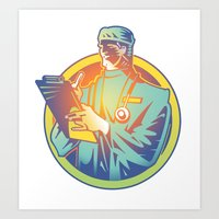 doctor Art Prints featuring Doctor by David Chestnutt