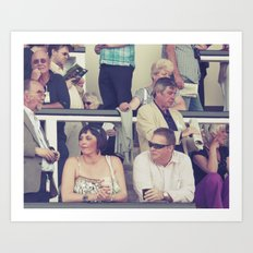 at the races... Art Print