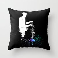 Mr.Universe Throw Pillow