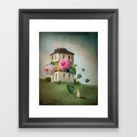 House Of Flowers Framed Art Print