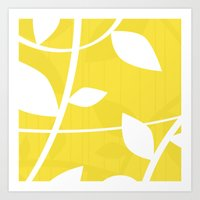 Vine in Yellow by Friztin Art Print