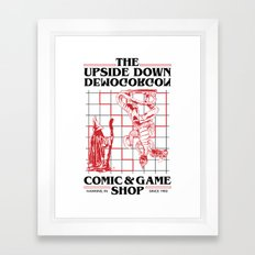 The Upside Down Demogorgon - Stranger Things Have Happened Framed Art Print