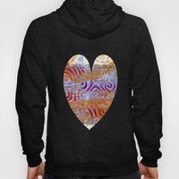 Pink, gold and blue ghost print Hoody