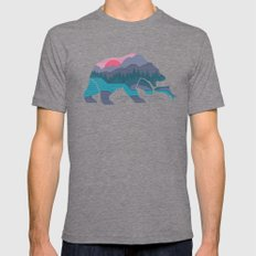 Bear Country Mens Fitted Tee Tri-Grey SMALL