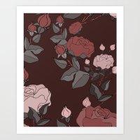 Valentine's Day Roses Art Print