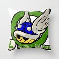 Luigi's Driver Training Throw Pillow