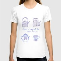 Decorative Teapots Womens Fitted Tee White SMALL