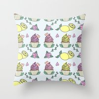 Time For Cupcakes! Throw Pillow
