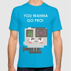 Oh, you wanna GO! Mens Fitted Tee Teal SMALL
