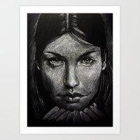 Charcoal experiment #4 Art Print