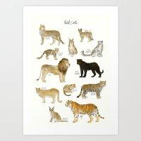 Wild Cats Art Print