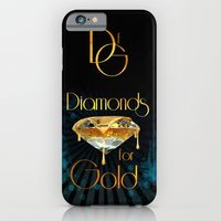 iPhone & iPod Case featuring Diamonds for Gold Splatter by Birdskull Studios