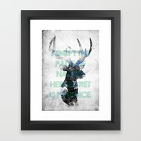 Adopt The Pace Of Nature… Framed Art Print