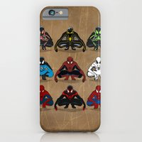 iPhone & iPod Case featuring Spider-man - The Year of the Costumes by Michael Parsons
