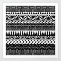 Tribal Monochrome. Art Print