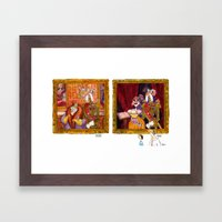 The General and His Wife AND The General and His Mistress Framed Art Print