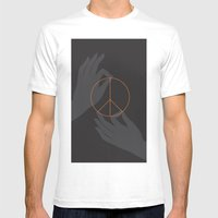 Buddha And Peace Mens Fitted Tee White SMALL