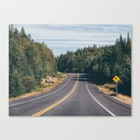 turn left Canvas Print