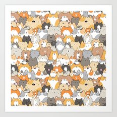 Cats, Kitties and a Spy Art Print