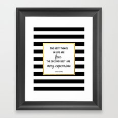Coco Gold Very Expensive quote Framed Art Print