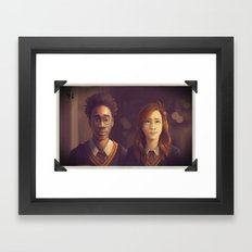 James and Lily Framed Art Print