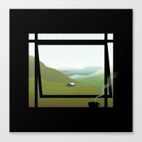 WINDOWS 005: THE HILLS Canvas Print