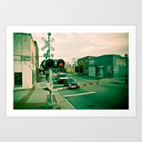 Railroads And State Line… Art Print