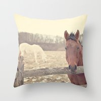 Here and There  Throw Pillow