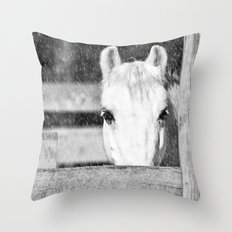 Winter Horse Throw Pillow